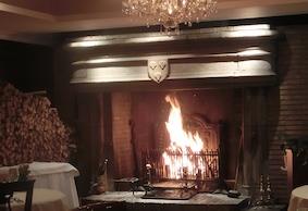 パッション店内の暖炉