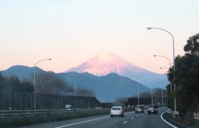 車中からの富士山