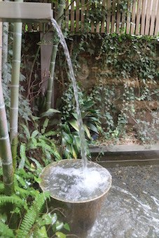 窓から見える日本庭園風な景色