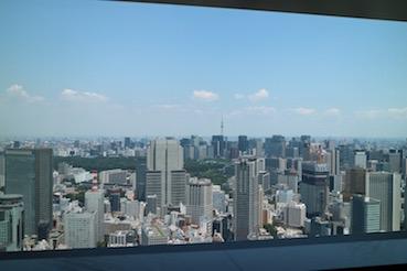 東京を一望できる絶景のお席でした