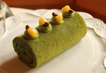 フランス菓子初級クラス『抹茶と栗のロールケーキ』